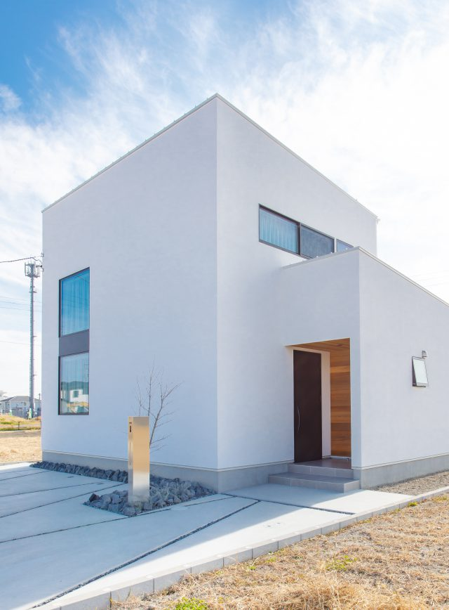 インテリアにもとことんこだわったシンプルな高級感が素敵なキューブのお家